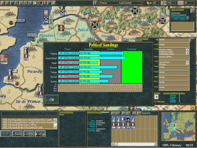 Empire in Arms the Napoleonic Wars of 1805 - 1815 PC screenshots