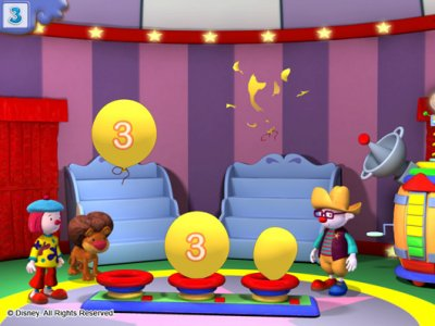 Jojo s circus requires kids to pop balloons matching a certain