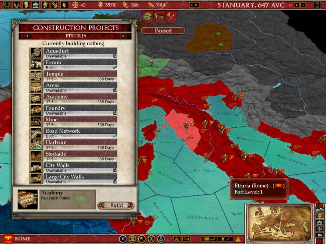 Europa Universalis: Rome PC screenshots