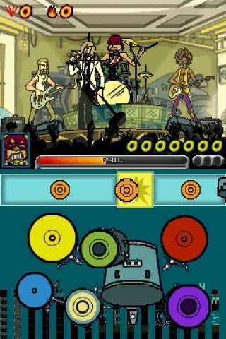 Rock Revolution Nintendo DS screenshots