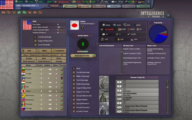 Hearts of Iron 3 PC screenshots