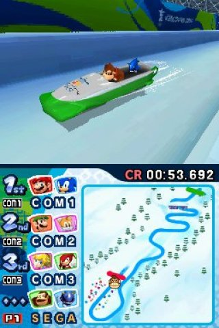 Mario &amp; Sonic at the Olympic Winter Games Nintendo DS screenshots