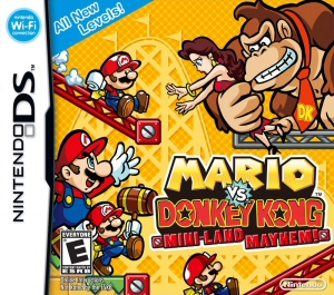 Mario vs. Donkey Kong: Mini-land Mayhem! - NDS Boxart