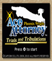 Phoenix Wright: Ace Attorney Trials and Tribulations Boxart