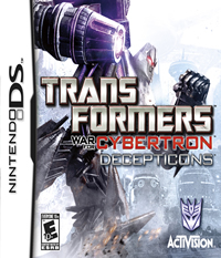 Transformers: War for Cybertron Decepticons - NDS Boxart