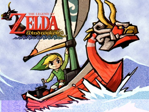 Link sailing on a boat in the Legend of Zelda the Wind Waker