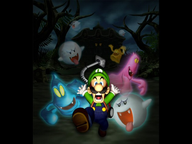 Luigi being scared of ghosts in Luigi's Mansion