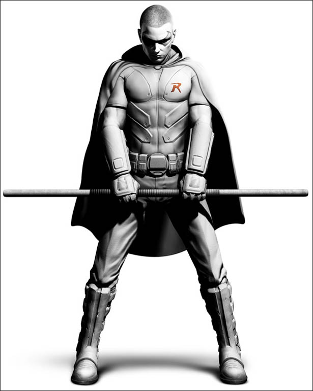 Arkham City Welcomes Robin Coloring Pages