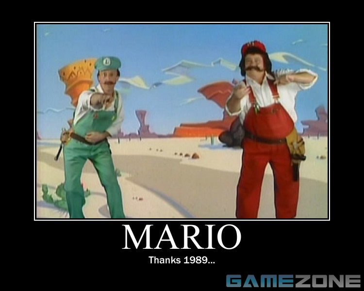 Mario 1989 TV Show Motivational Poster; Mario: Thanks 1989