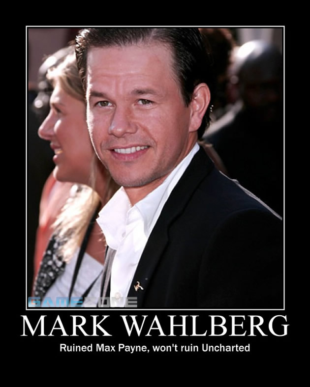 Mark Wahlberg Uncharted Movie Motivational Poster; Mark Wahlberg: Ruined Max Payne, won't ruin Uncharted