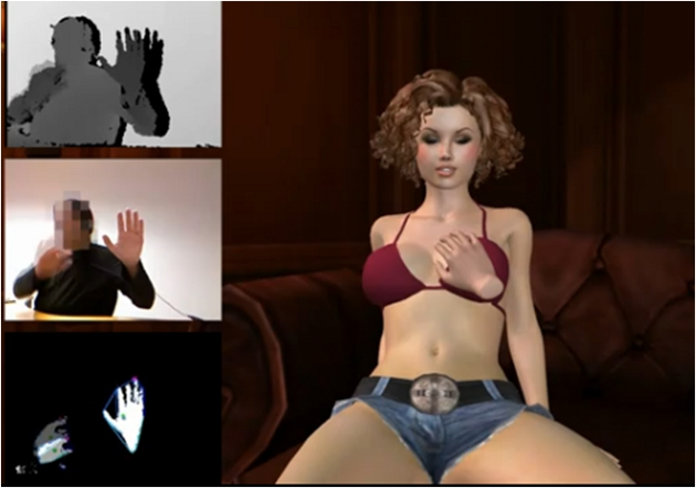 ... the Kinect motion controller into a super-pervy virtual reality to.