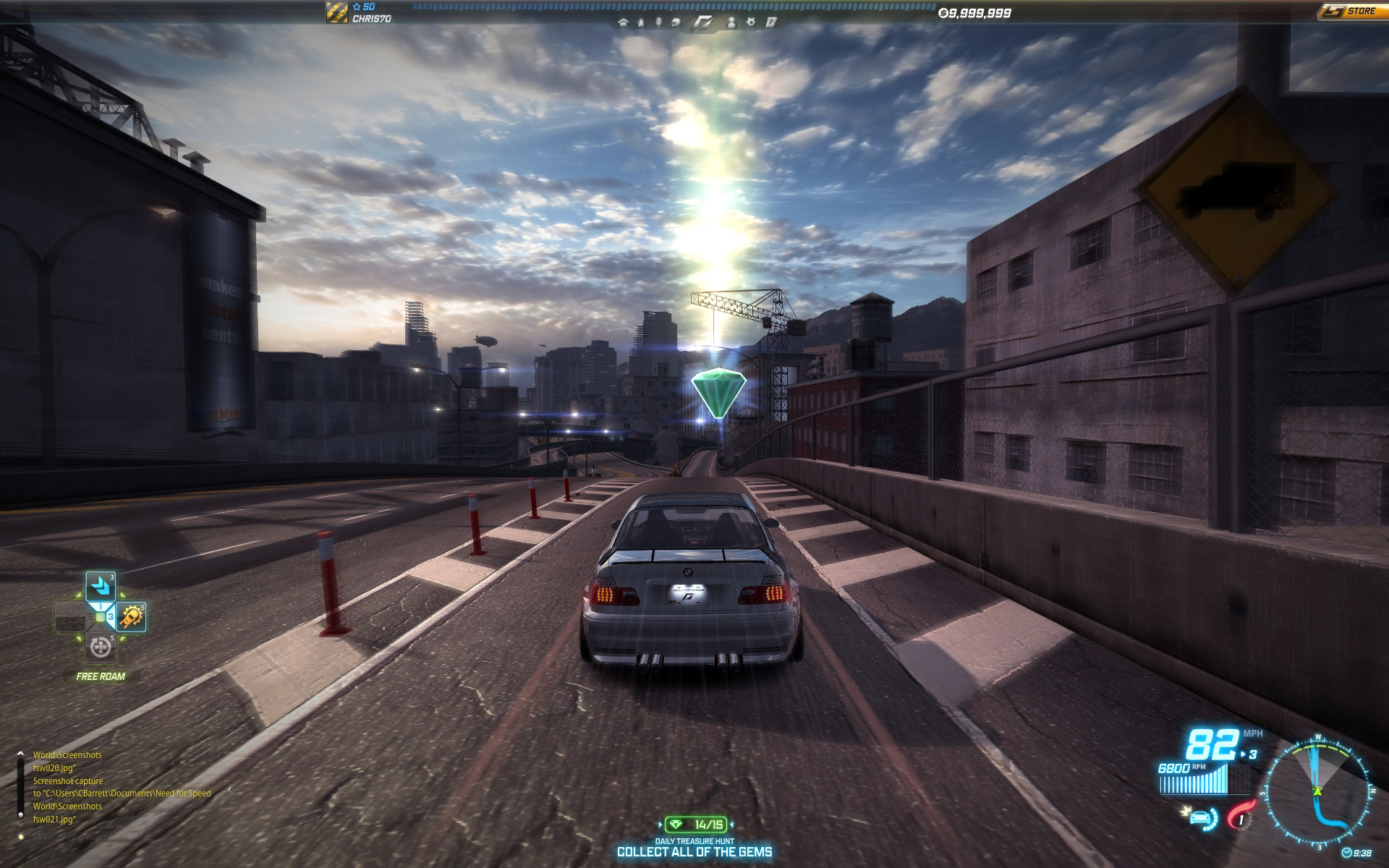 Need for Speed World new Treasure Hunt mode screenshot