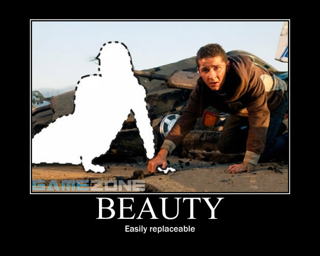 Transformers Movie Motivational Poster; Beauty: Easily replaceable
