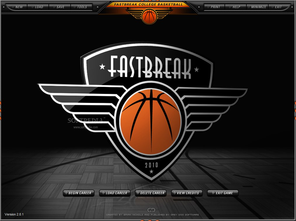 Fast Break College Basketball 2010 Image
