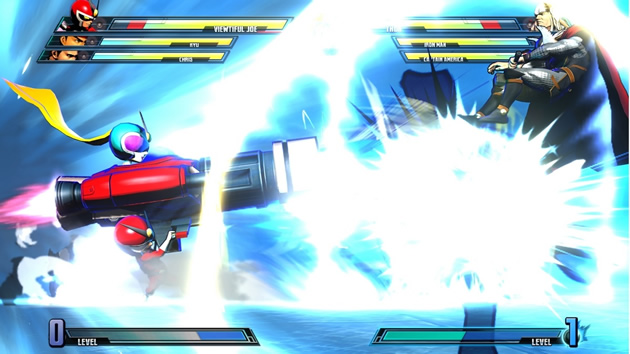 Marvel vs Capcom 3 Viewtiful Joe vs Thor ultimate attack