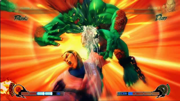 Street Fighter IV Dan fighting Blanka