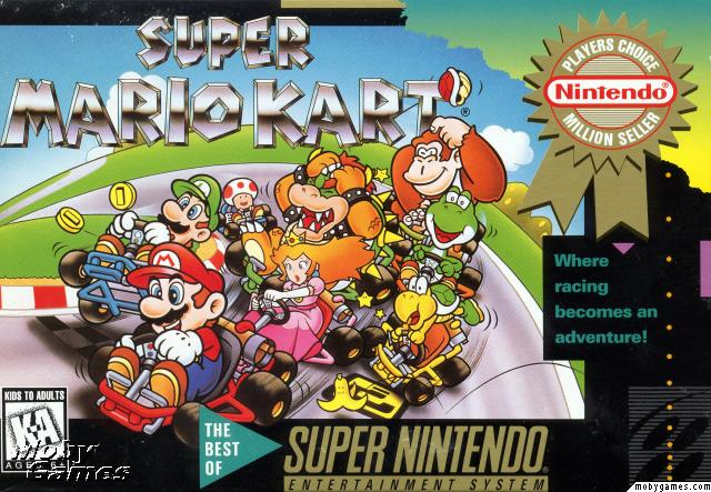 super mario kart and super mario world snes
