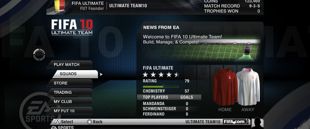 FIFA 10 Ultimate Team - Feature