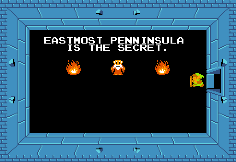 Eastmost penninsula is the secret