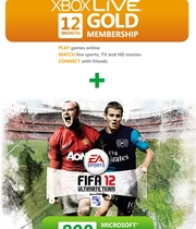 FIFA 12 Month + 800 Pts GOLD Subscription Boxart