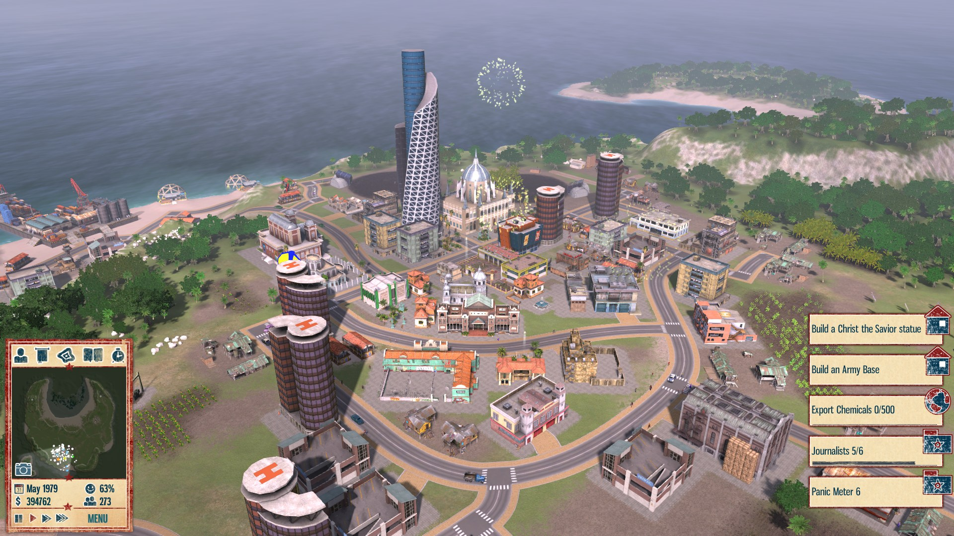 how to get tourists in tropico 1