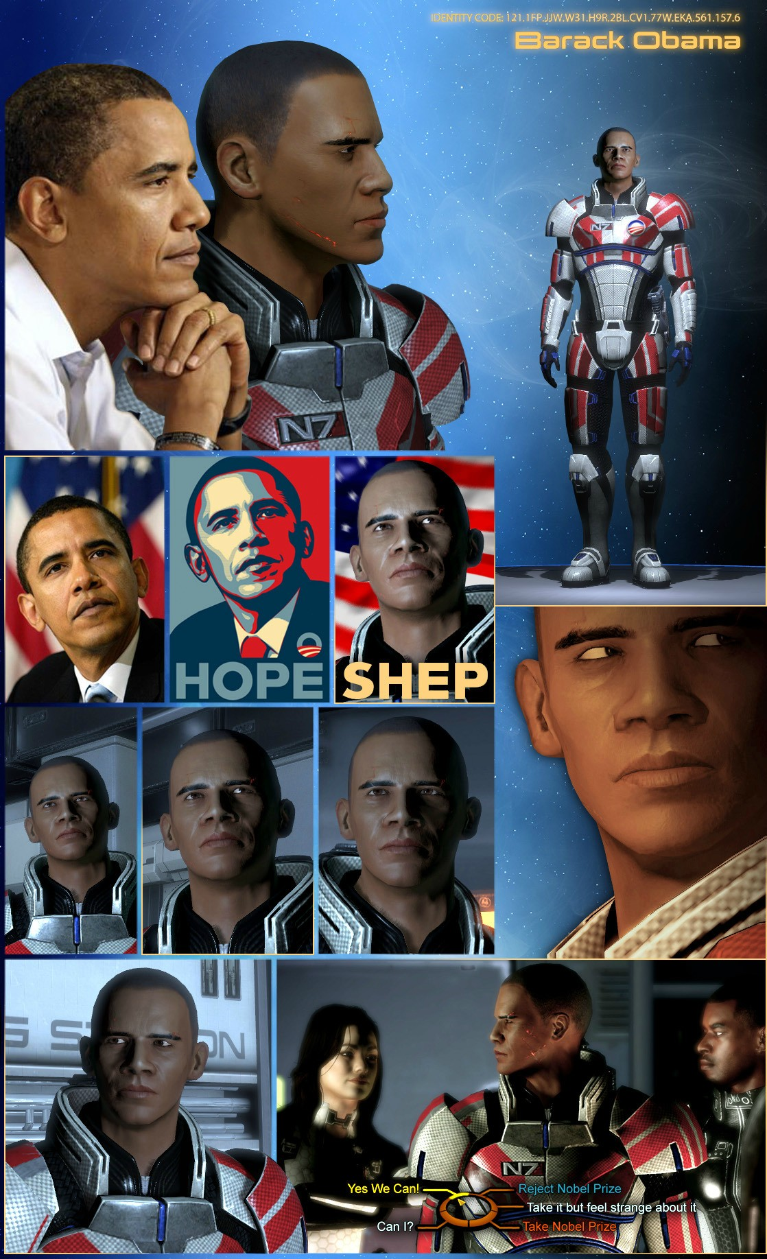 President Barack Obama Mass Effect 3