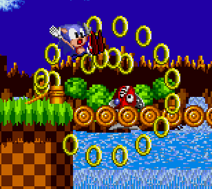 sonic losing rings