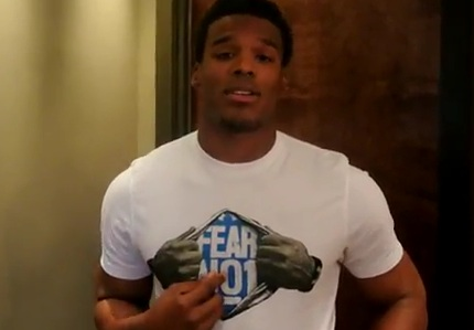 Cam Newton Cam Newton campaigns for Madden NFL 13 Cover