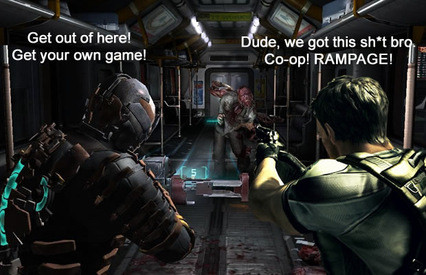 resident evil dead space mashup