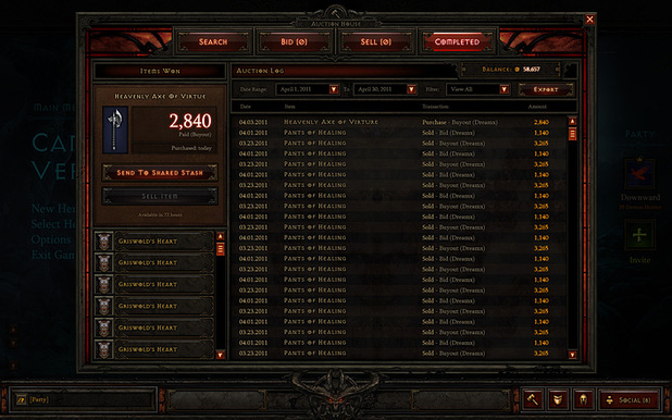 Diablo III Screenshot - Diablo III - Auction House