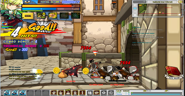 Elsword combat gameplay