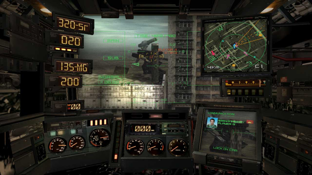 You really feel like you're inside a vehicle, just like Steel Battalion.