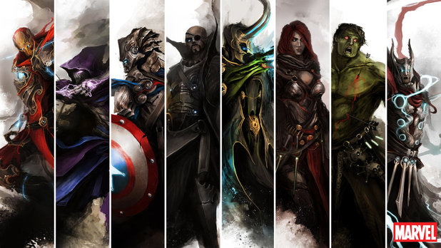 The Avengers (2012) Screenshot - Medieval Avengers art