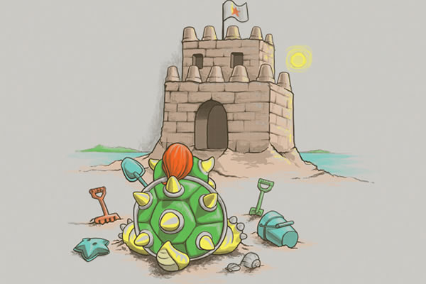 shirtpunch.com king koopa sand castle