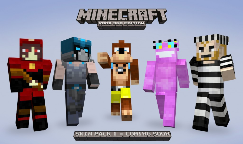 More Minecraft: Xbox 360 Edition skins revealed