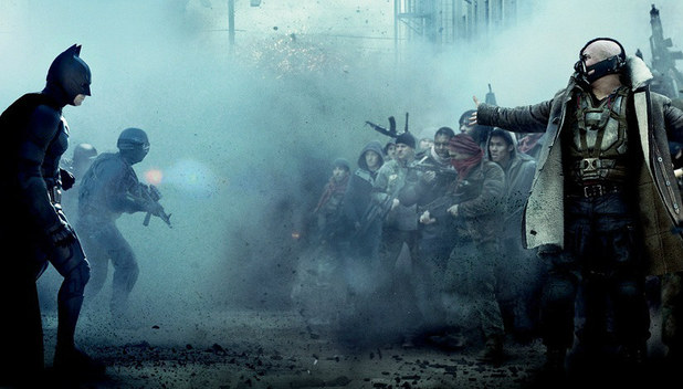 The Dark Knight Rises (2012) Screenshot - batman vs bane