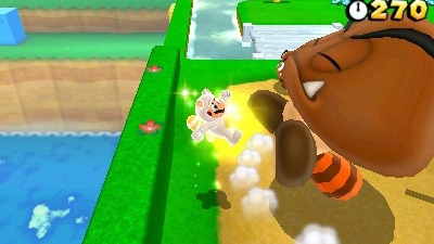 New Super Mario Bros 2 Screenshot - NSM3DL White Tanooki