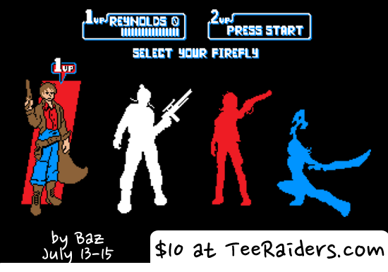 select firefly shirt teeraiders