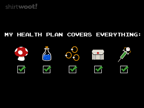 video game health care plan shirt shirtwoot