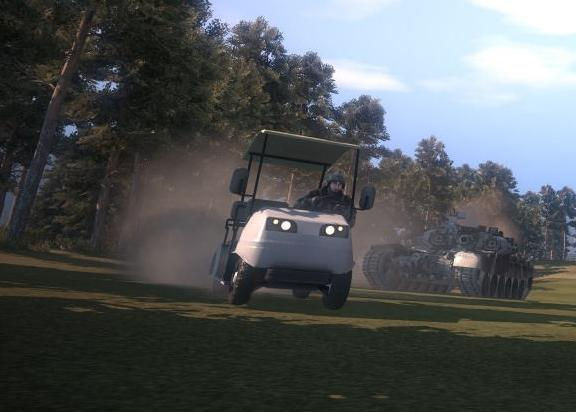 battlefield bad company golf cart