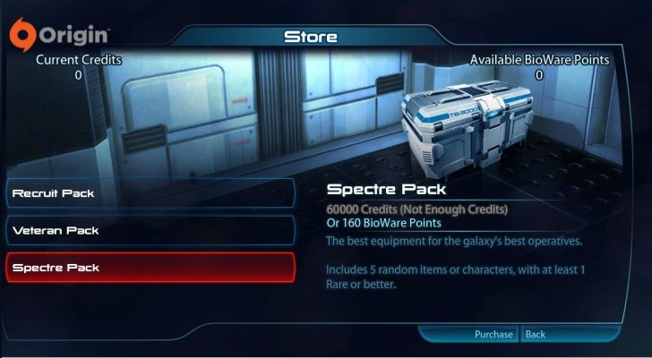 Mass Effect 3 Shop
