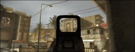Ins 2 uses no HUD or Targeting Reticle