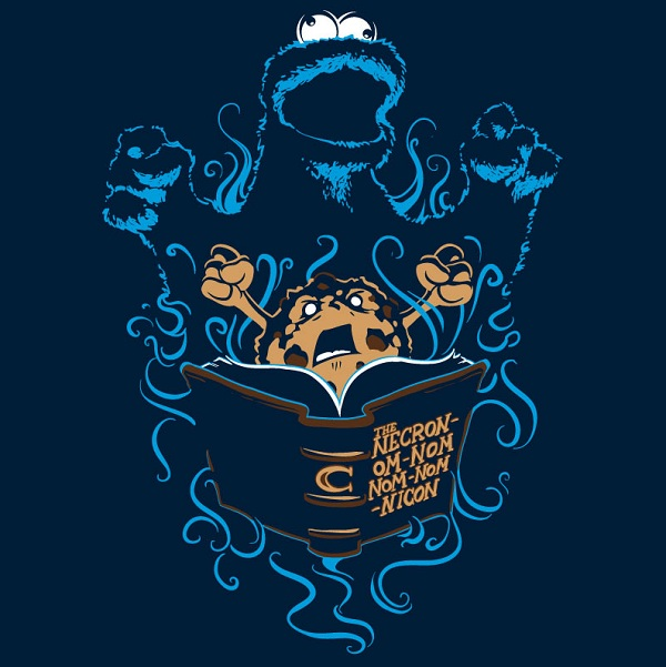 cookie monster tshirt qwertee.com
