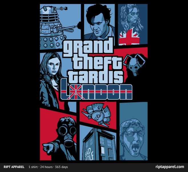 grand theft tardis tshirt dr. who
