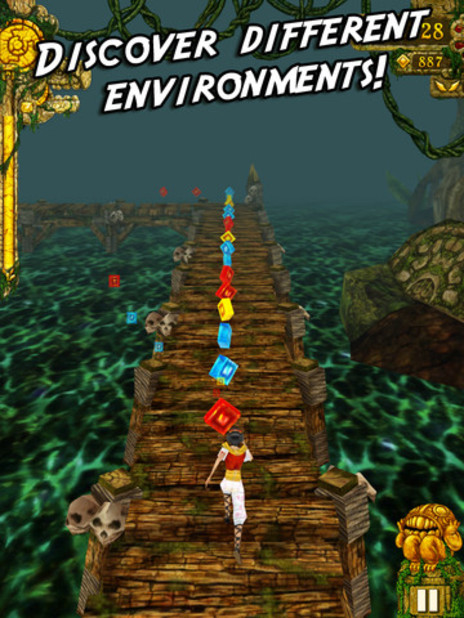 Temple Run Comic App Screenshot - Temple Run