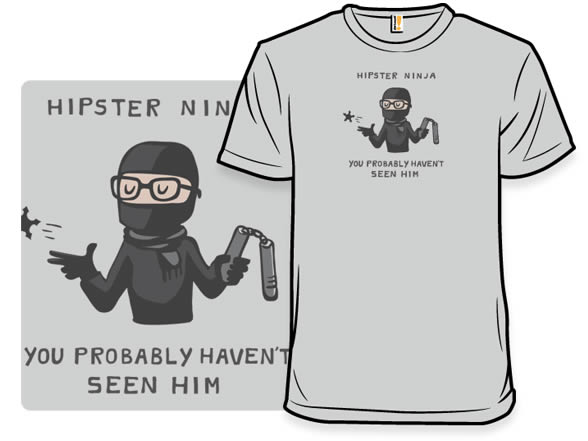 hipster ninja tshirt
