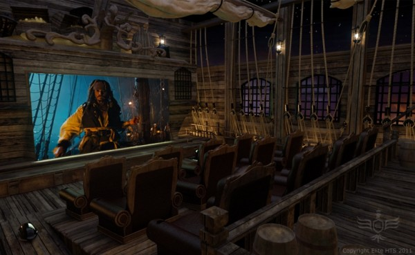 pirates of the caribbean home movie theater