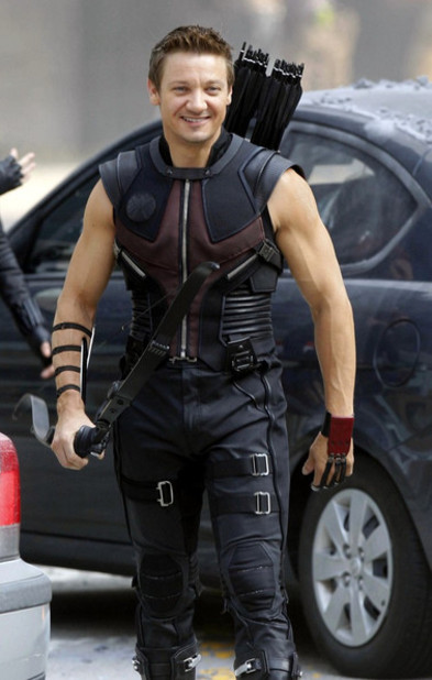 The Avengers (2012) Screenshot - jeremey renner hawkeye the avengers