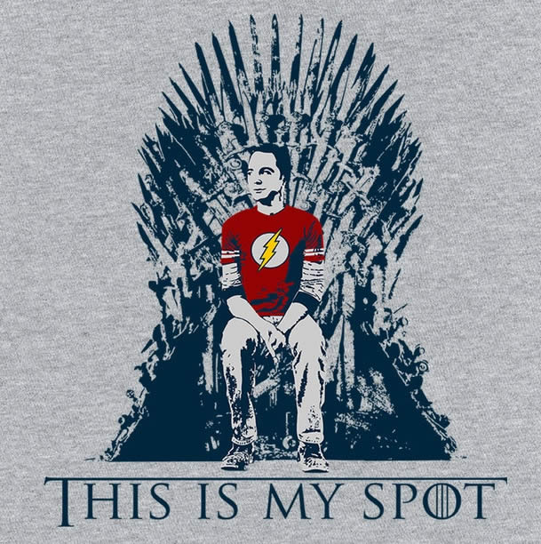 Game of thrones big bang theory shirt