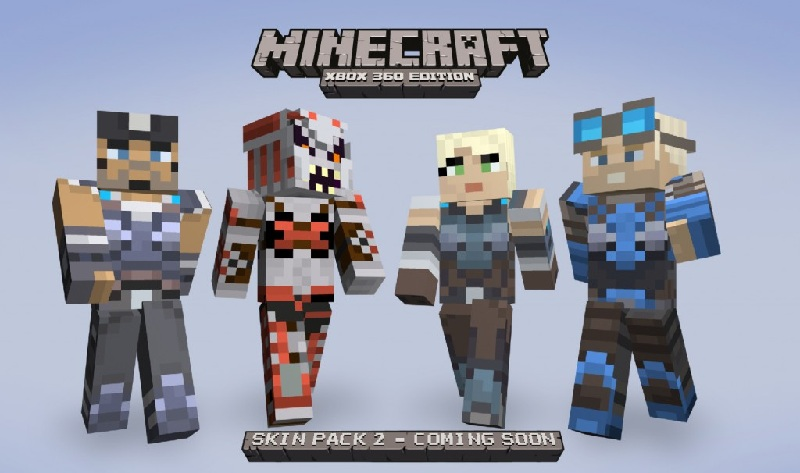 Minecraft xbox 360 edition skin pack 2 includes gears of war skins